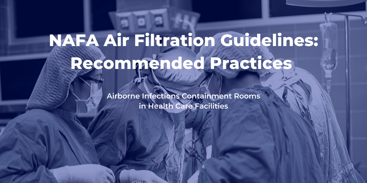 Airborne infections air filtration Guidelines